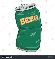 green color broken beer can green color doodle stock vector 330655652