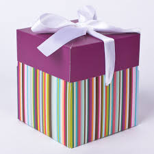 gift boxes luxury square stripy flat packed gift box only 59p