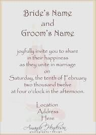 wedding invitation wording from and groom new wedding invitations sles wording from and groom