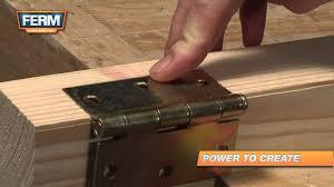 Installing Interior Door Hinges How To Install A Door Hinge