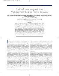 policy based integration of multiprovider digital home services