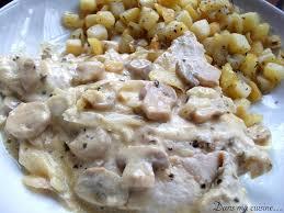 recette de cuisine escalope de dinde escalope de dinde sauce moutarde et chignons dans ma cuisine
