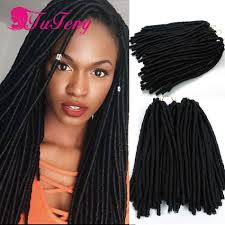 Human Hair Loc Extensions by Faux Locs Crochet Hair 14 Inch Dreadlock Extensions Top Quality