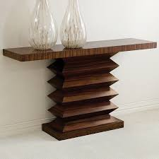 X Base Console Table Limited Production Design U0026 Stock Contemporary Zebra Wood