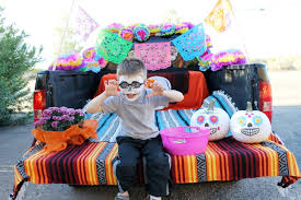 day of the dead trunk or treat ideas child at