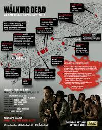 Walking Dead Google Map The Walking Dead Comic Con 2014 Map Schedule Amc
