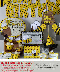 bumble bee party package baby shower honey bee party