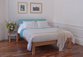 tao contemporary painted wood bed natural bed company tao bed oak and pale blue