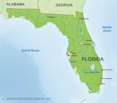 Blank Map Of World Physical by Physical Map Of Florida