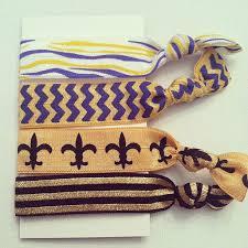 saints ribbon lsu saints foe elastic ribbon hair ties by bayouaccents on etsy