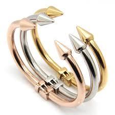 titanium steel love bracelet images Fashion nail bracelet stainless steel love bracelets punk rivet jpg