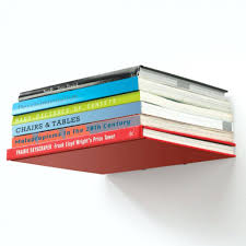 umbra invisible bookshelf installation conceal wall grande book