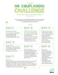 Challenge How Do You Do It 7 Day No Complaining Challenge Imom