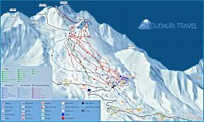 Northeast Georgia Map Map Of Ski Lifts And Ski Trails In The Gudauri Ski Resort Georgia