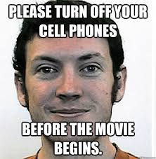 Get Off Your Phone Meme - please turn off your cell phones before the movie begins james