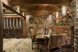 Upholstered Banquettes Upholstered Banquette Wine Cellar Rustic With Upholstered