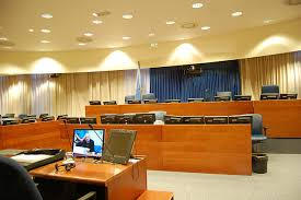 Courtroom chamber at the International Criminal Tribunal or the Former Yugoslavia  ICTY   Photo  Klaasjanb  Justice in Conflict
