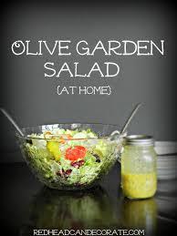 Olive Garden Thanksgiving Olive Garden Salad Hack Redhead Can Decorate