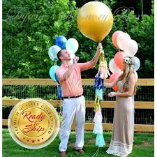 gender reveal balloons in a box gold baby gender reveal balloon 36 gold confetti filled balloon