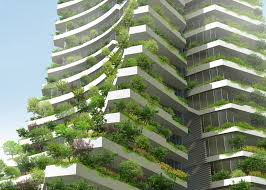 architecture plans vo trong nghia architects plans leaning plant covered towers for
