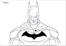 learn how to draw batman face batman step by step drawing