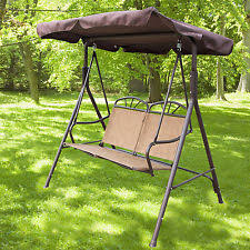 2 person seater patio canopy swing chair backyard seat beach porch