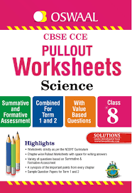 oswaal cbse cce pullout worksheets science for class 8 old
