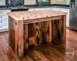 kitchen island made from reclaimed wood kitchen island reclaimed wood pallets boos butcher block 1 of 1