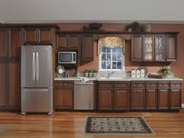 Kitchen Backsplash Cherry Cabinets by Backsplashes Kitchen Backsplash Mosaic Cherry Cabinets With