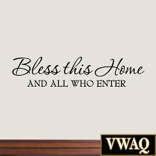 bless this home and all who enter wall decals quotes religious