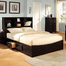 Pltform Bed by Shop Furniture Of America Brooklyn Espresso Platform Bed At Lowes Com