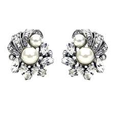 bridal clip on earrings bridal earrings wedding collection ben amun page 3