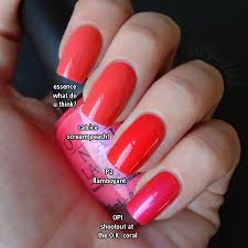 lacquerized a blog about nail polish coral comparison featuring