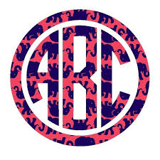 monogram stickers monogram vinyl decals dixieland monogram