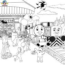 kids halloween cartoon diesel den thomas the train coloring pages free printables