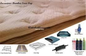 Most Comfortable Queen Mattress Queen Size Softside Waterbed With Luxurious Bamboo Euro Top Mattress