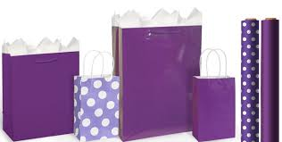 purple gift bags gift wrap city