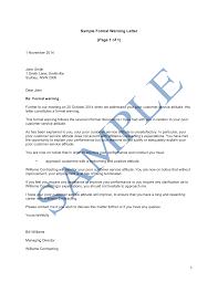 formal warning letter sample lawpath