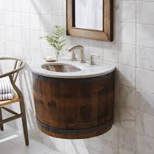 Wall Mounted Vanities For Small Bathrooms by Bordeaux Wine Barrel Wall Mounted Bathroom Vanity Base Native Trails