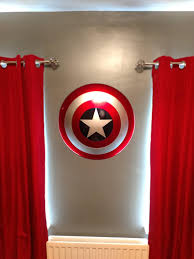 Wooden American Flag Wall Hanging Today I Wall Mounted My Captain America Shield In The Bedroom