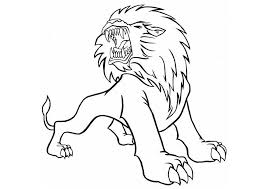 roaring lion coloring pages free coloring pages kids