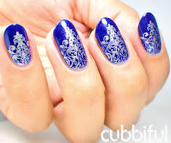 cubbiful 31dc2015 day 29 blue base gold stamping in royal