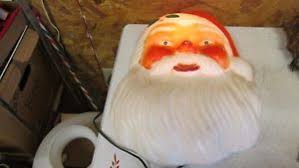 outdoor plastic lighted santa claus lighted santa face ebay