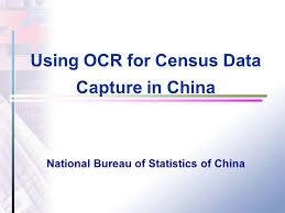 china statistics bureau ocr for census data capture in china national bureau of
