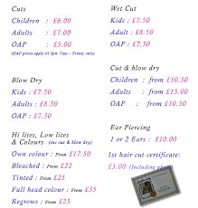 prices little snippers childrens hairdressers hair cuts for