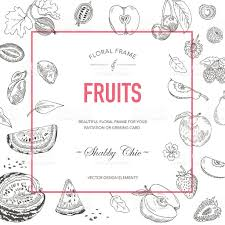 Baby Invitation Card Fruit Frame Invitation Card Wedding Card Baby Shower Card Vector