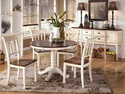 kitchen round kitchen table and chairs set and 5 leather dining