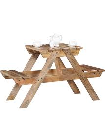 Mango Wood Outdoor Furniture - buy lomira two seater picnic table in natural mango wood finish by