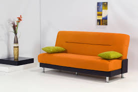 Modern Sleeper Sofa Bed Best Modern Sleeper Sofa With Orange Fabric Cover And Black Cover