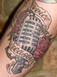 microphone tattoo eight of swords tattoo